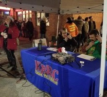 KBRC at 2017 downtown Mount Vernon Christmas Parade and Tree Lighting